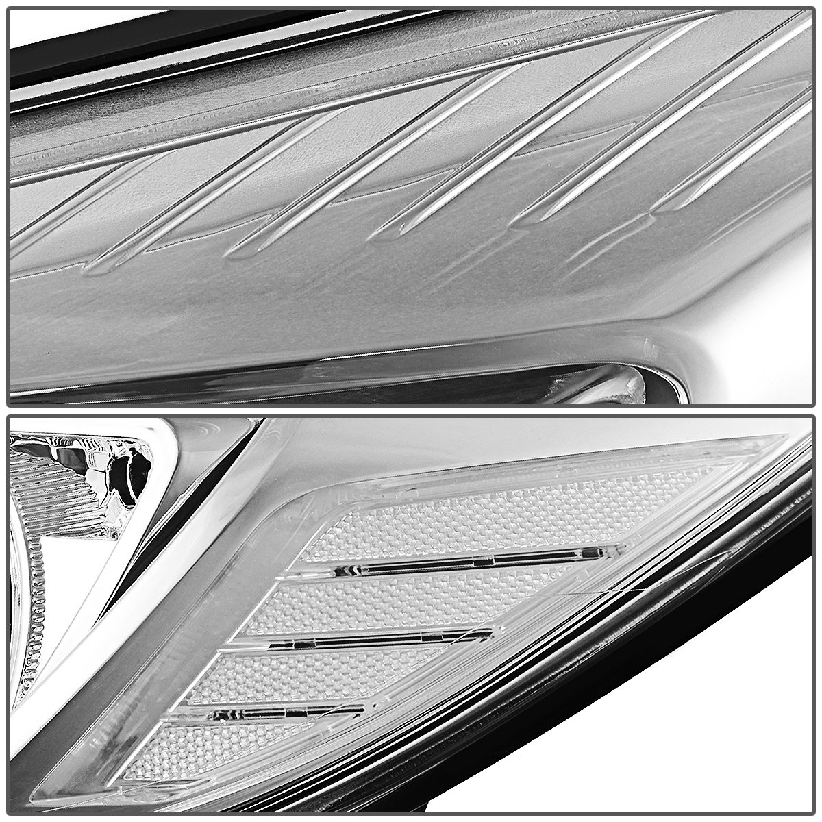 DNA Motoring HL-OH-FF12-CH-CL1 Headlight Assembly Driver /& Passenger Side