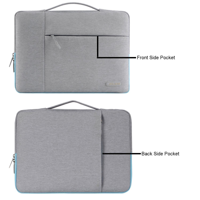 Neu MacBook Pro 13 Zoll A1989/&A1706/&A1708 2018//2017//2016 MOSISO Laptop Multifunktion Aktentasche Handtasche Kompatibel 2018 MacBook Air 13 A1932 Surface Pro 6//5//4//3 Polyester H/ülle Grau