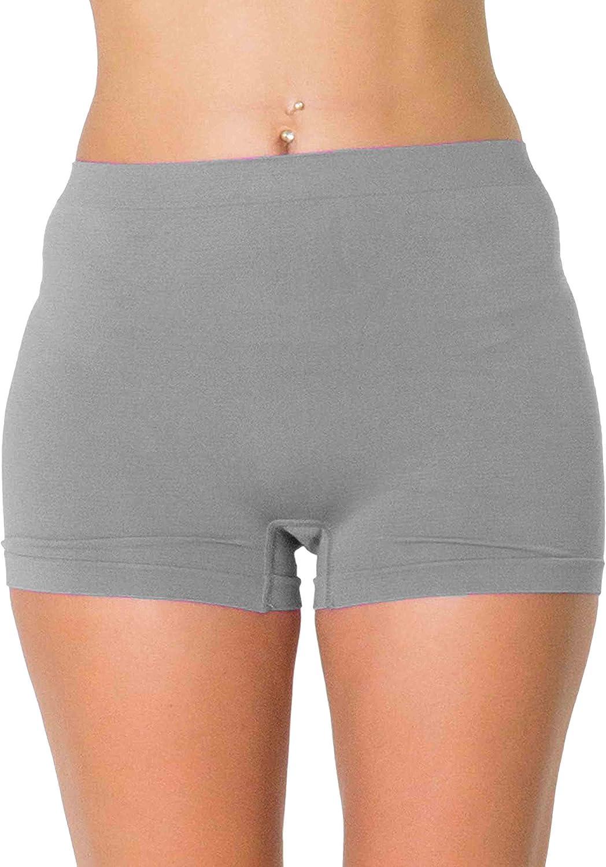 Love My Fashions/® Donne Plain A Vita Alta Biancheria Intima Le Signore Seamless Allungare Boxer Pantaloncini S M L XL XXL Taglia Grossa