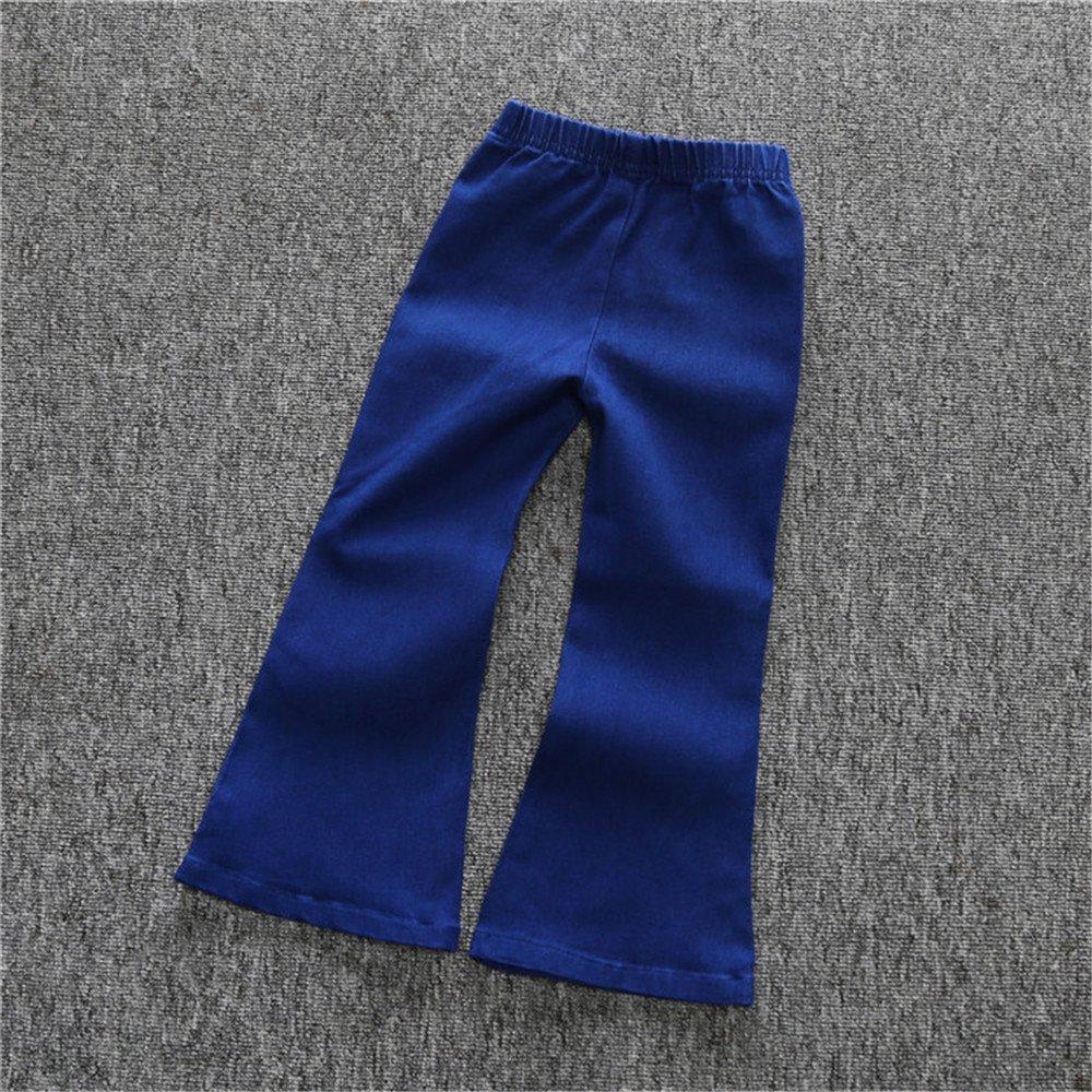 Kids Tales Little Baby Girls Skinny Bell-Bottom Blue Jean Ankle Pants
