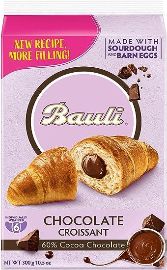 BAULI Croissant llenado galletas y dulces de chocolate GR300 x6