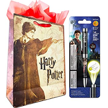 InkWorks Harry Potter Projector Pen (Harry Potter Office Supplies, School Supplies) with Bonus Party Bag