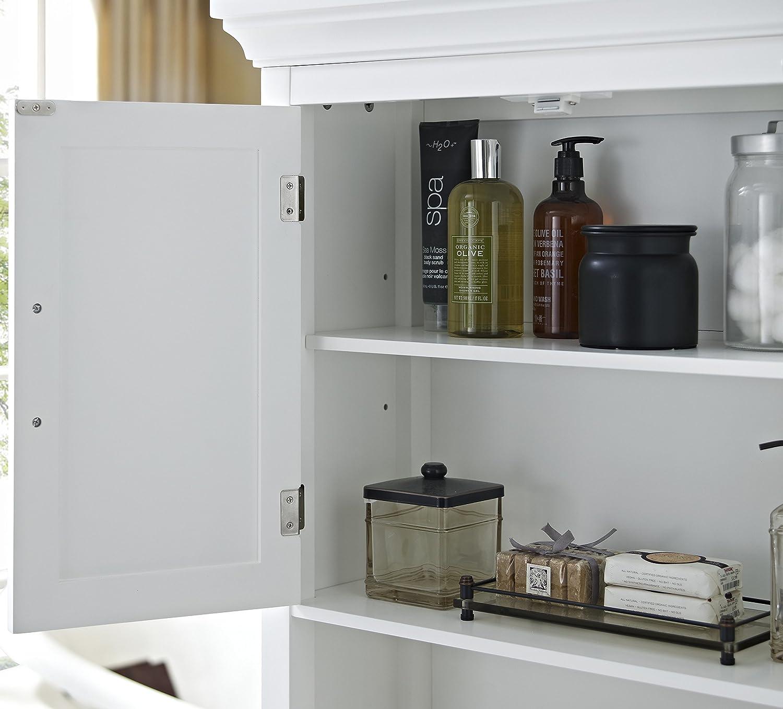Amazon Simpli Home Avington Space Saver Cabinet White