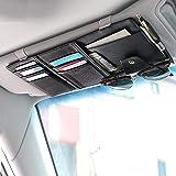 EcoNour Car Sun Visor Organizer- PU Leather- Auto Interior Accessories- Pocket Organizer Insurance and Registration…