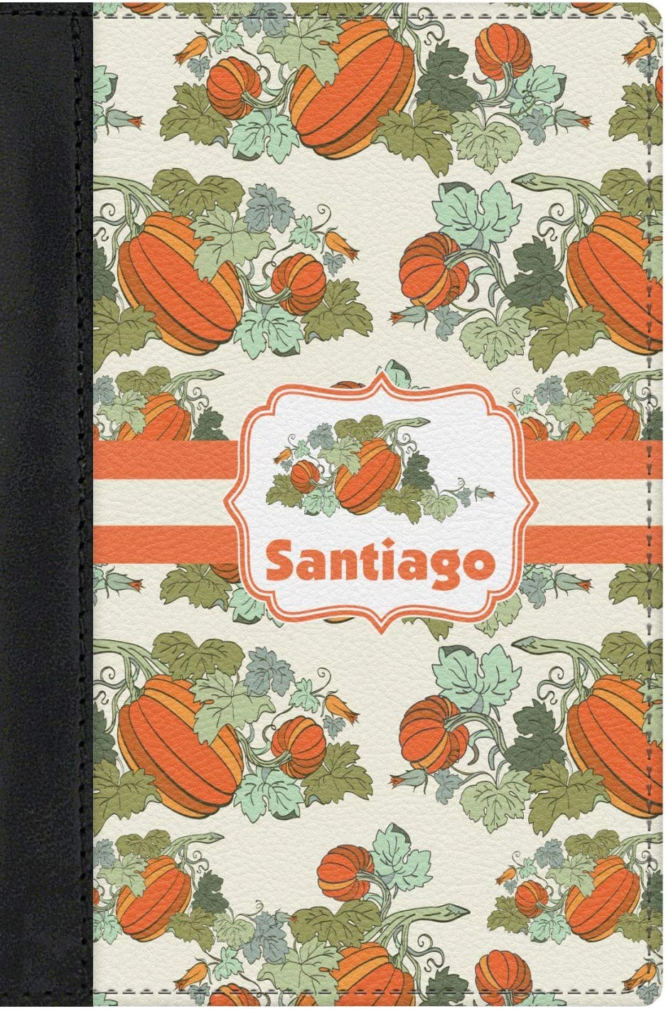 Personalized Pumpkins Genuine Leather Passport Cover