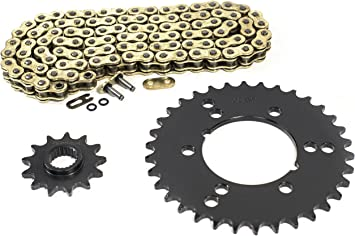 1993 Polaris Trail Boss 350L 4x4 Gold O Ring Chains /& Complete Sprocket Set