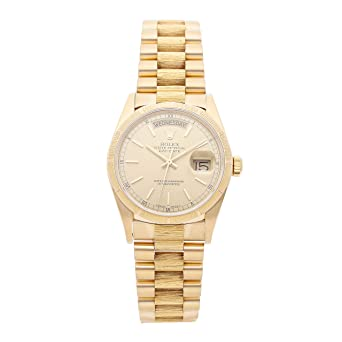 fccd00c12b4 Amazon.com: Rolex Day-Date Mechanical (Automatic) Champagne Dial ...
