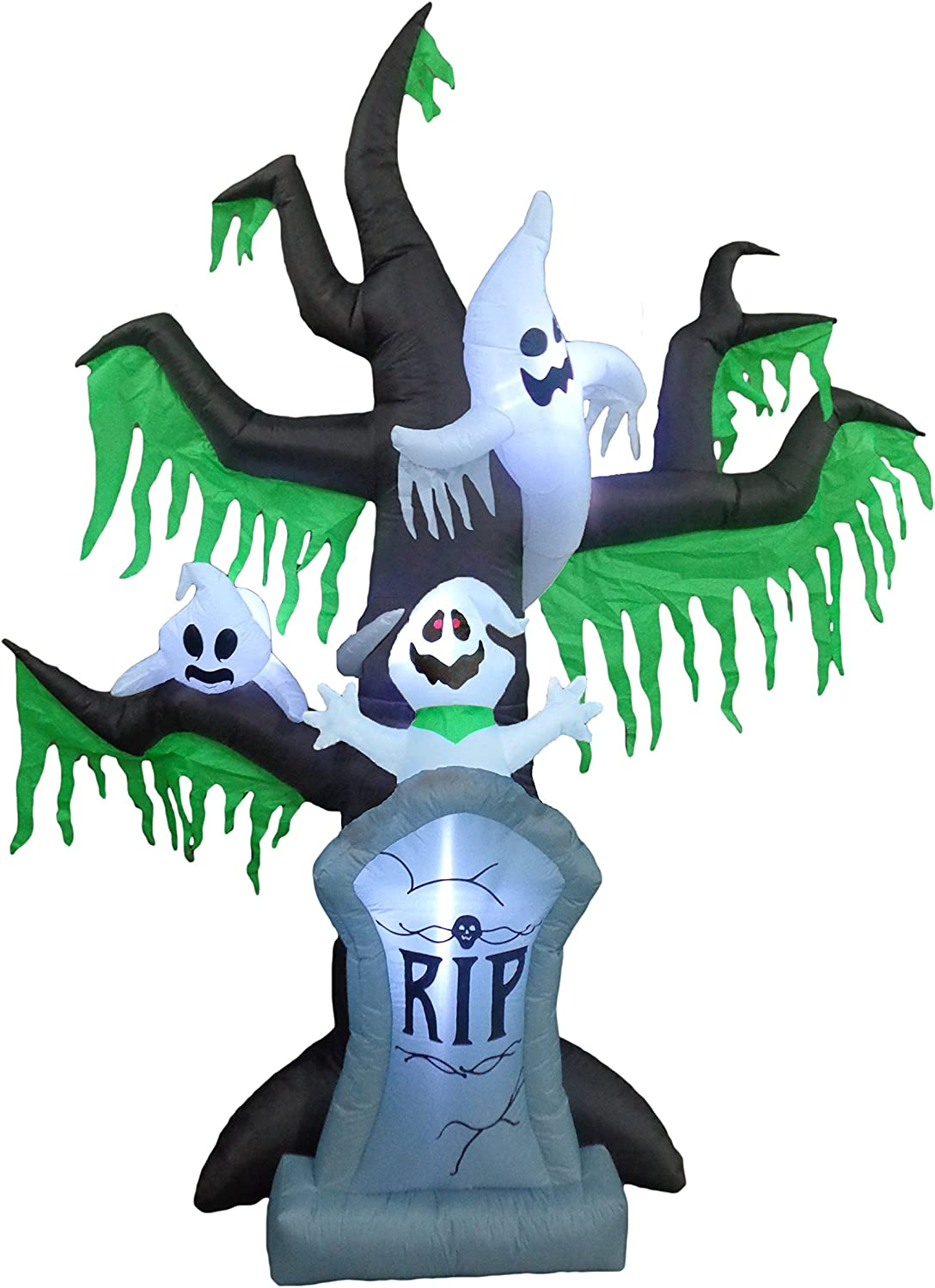 Ghosts in a Spooky Tree Outdoor Inflatables