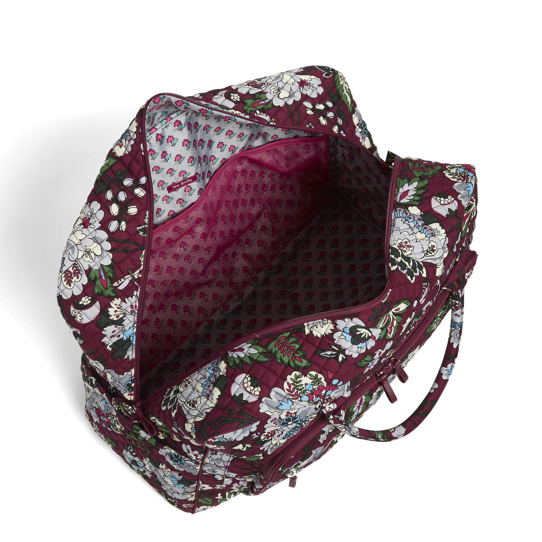 Vera Bradley Iconic Grand Weekender Travel Bag, Signature Cotton, bordeaux blooms by Vera Bradley (Image #6)