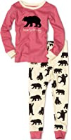 Little Blue House by Hatley Girls' Long Sleeve Appliqué Pajama Sets