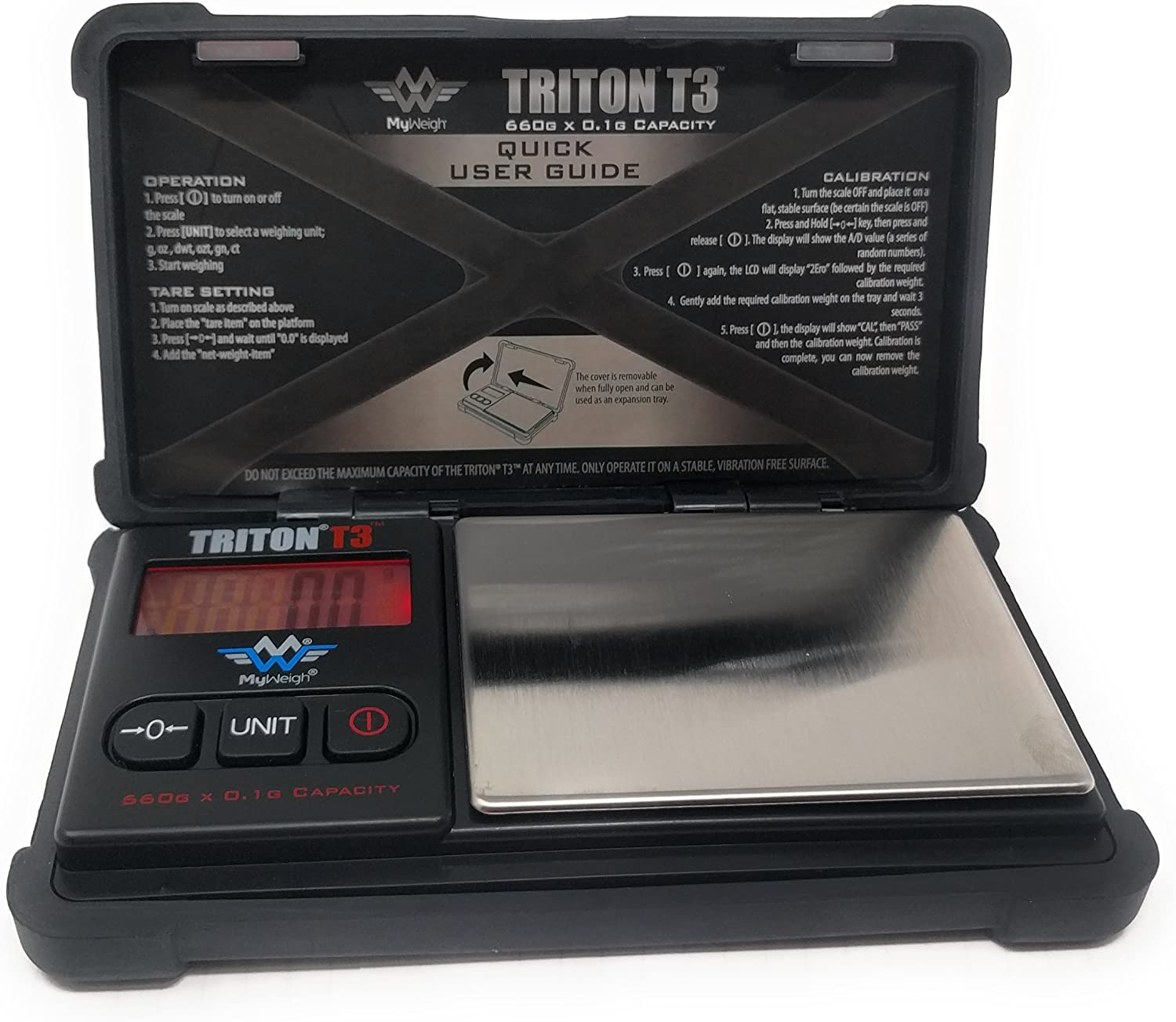 ONE by My Weigh Triton T3 400g x 0.01g Digital Scale w//Rubber Case TOUGH
