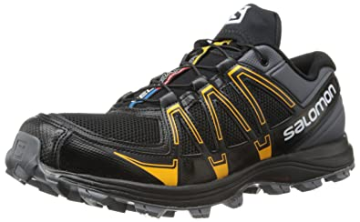 Salomon Men's Fellraiser Trail Running Shoe,Dark Cloud/Black/Yellow Gold ,10.5