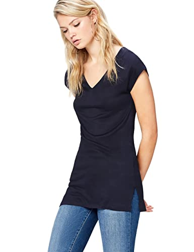 FIND T-Shirt Donna con Scollo a V