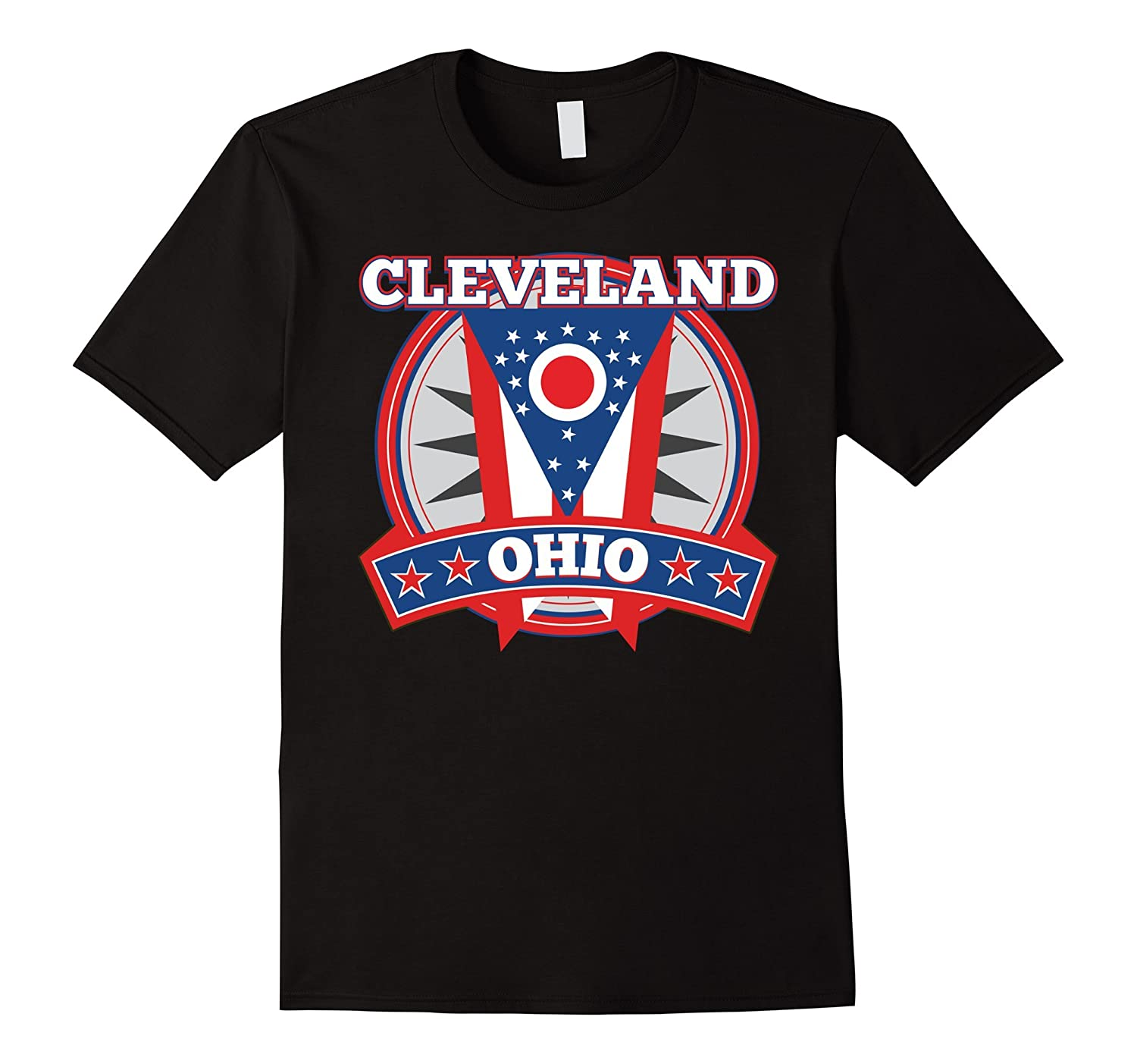 Cleveland Ohio July 4th Flag Red White Blue T-Shirt
