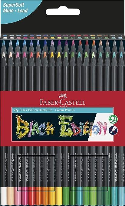 Faber-Castell Blackwood - Lápices de colores 36er Etui: Amazon.es: Oficina y papelería