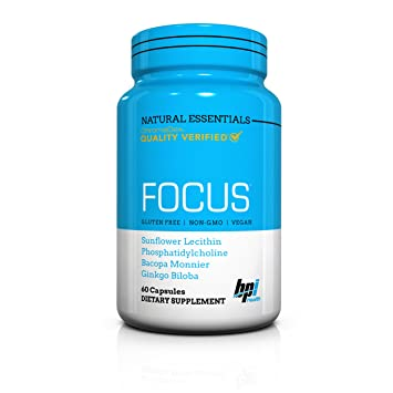 BPI Sports Natural Essentials, Focus, Potent Energy and Memory Booster with Ginkgo Biloba,
