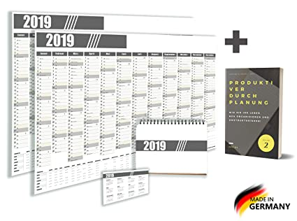 argiox Premium - Calendario de pared/pared planificador - 2 ...