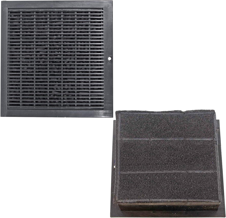SPARES2GO CARBFILT8 - Filtros cuadrados de ventilación para campana extractora B&Q/CATA/Cooke y Lewis/Designair (2 unidades): Amazon.es: Hogar