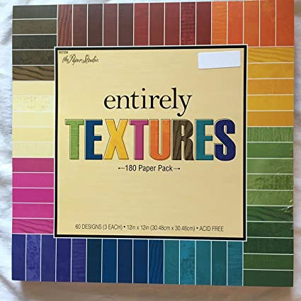 Amazon Entirely Textures 12x12 Scrapbooking Paper Pack 180 Sheets