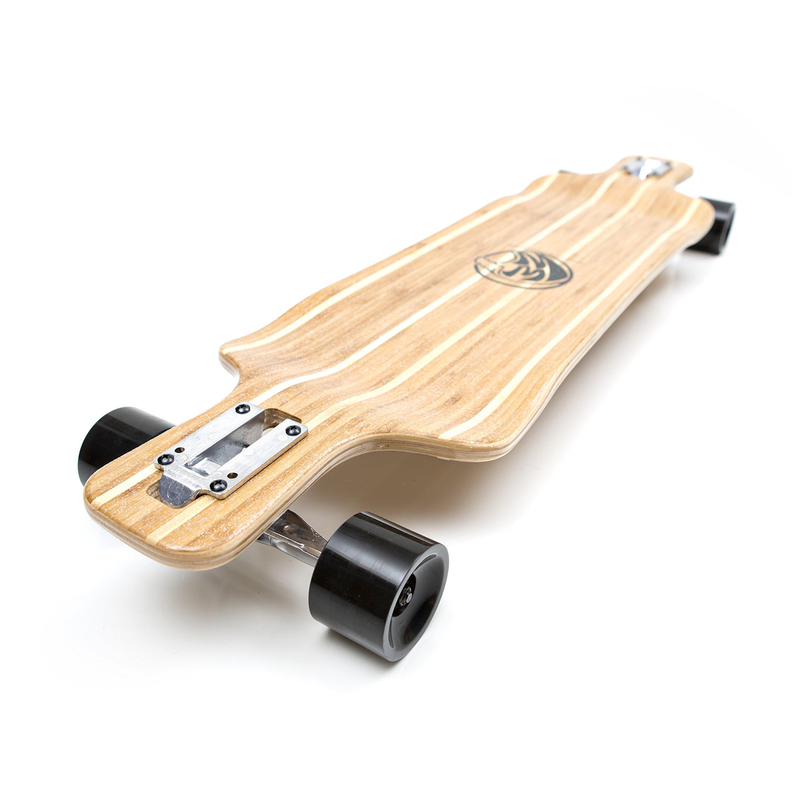 White Wave Bamboo Longboard Skateboard (Warrior)