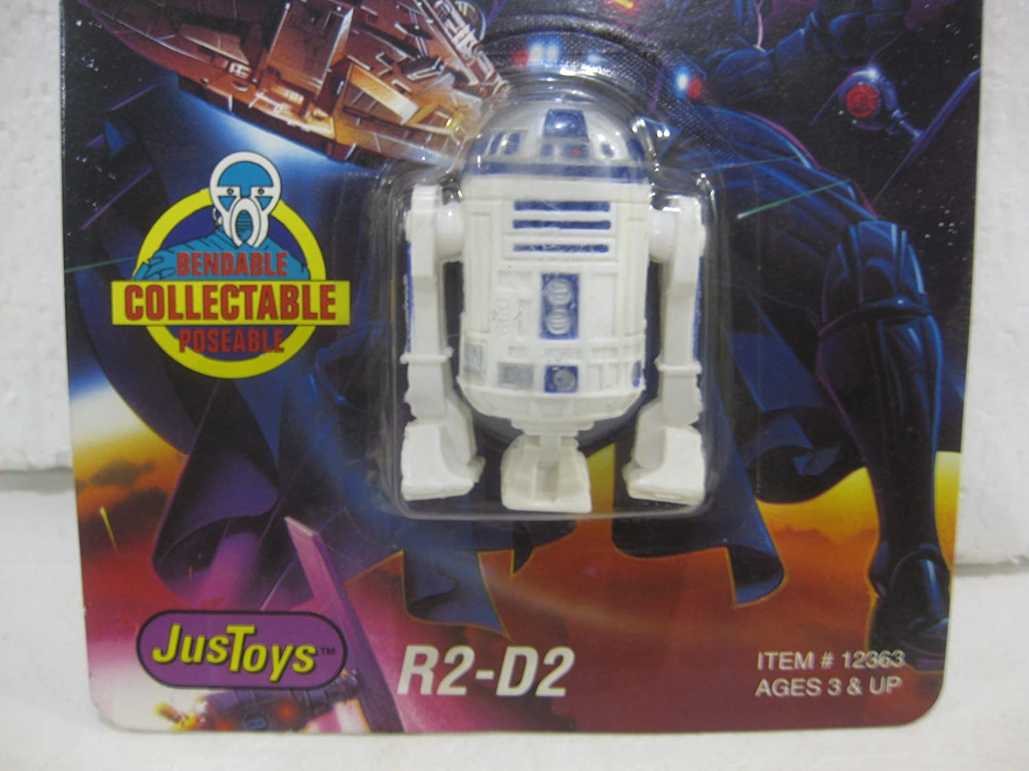 Star Wars Bend-ems R2-d2 Figure with Limited Edition Trading Card Topps