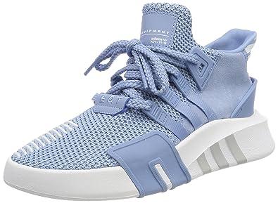 Adidas donne eqt crogiolarsi avanzata hi top formatori, ash cenere di frassino bianco e blu
