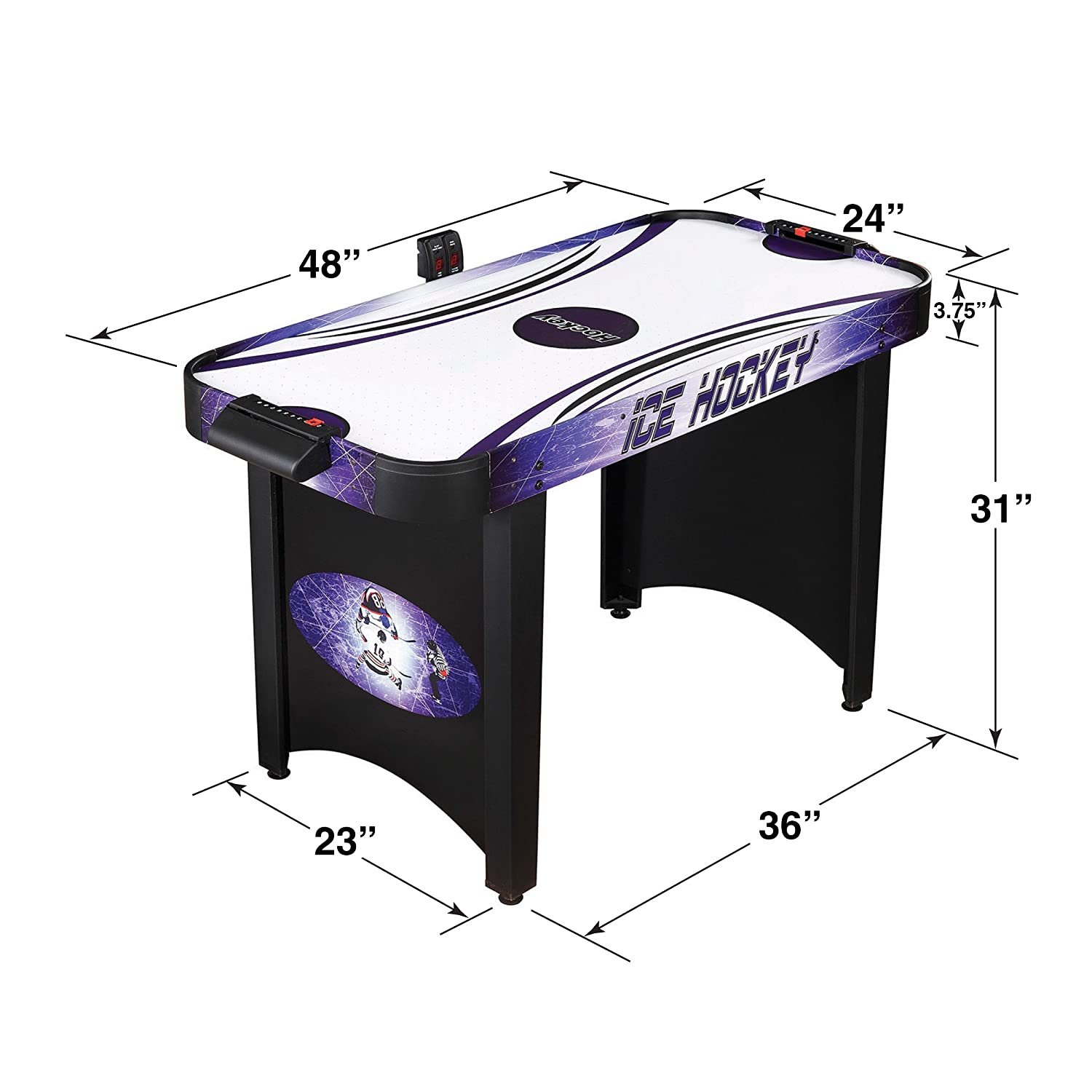 Amazon Com Hathaway Hat Trick 4 Ft Air Hockey Table For Kids And
