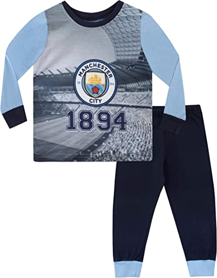 Manchester City FC Pijama para Niños Football Club Multicolor 3-4 Años: Amazon.es: Ropa y accesorios