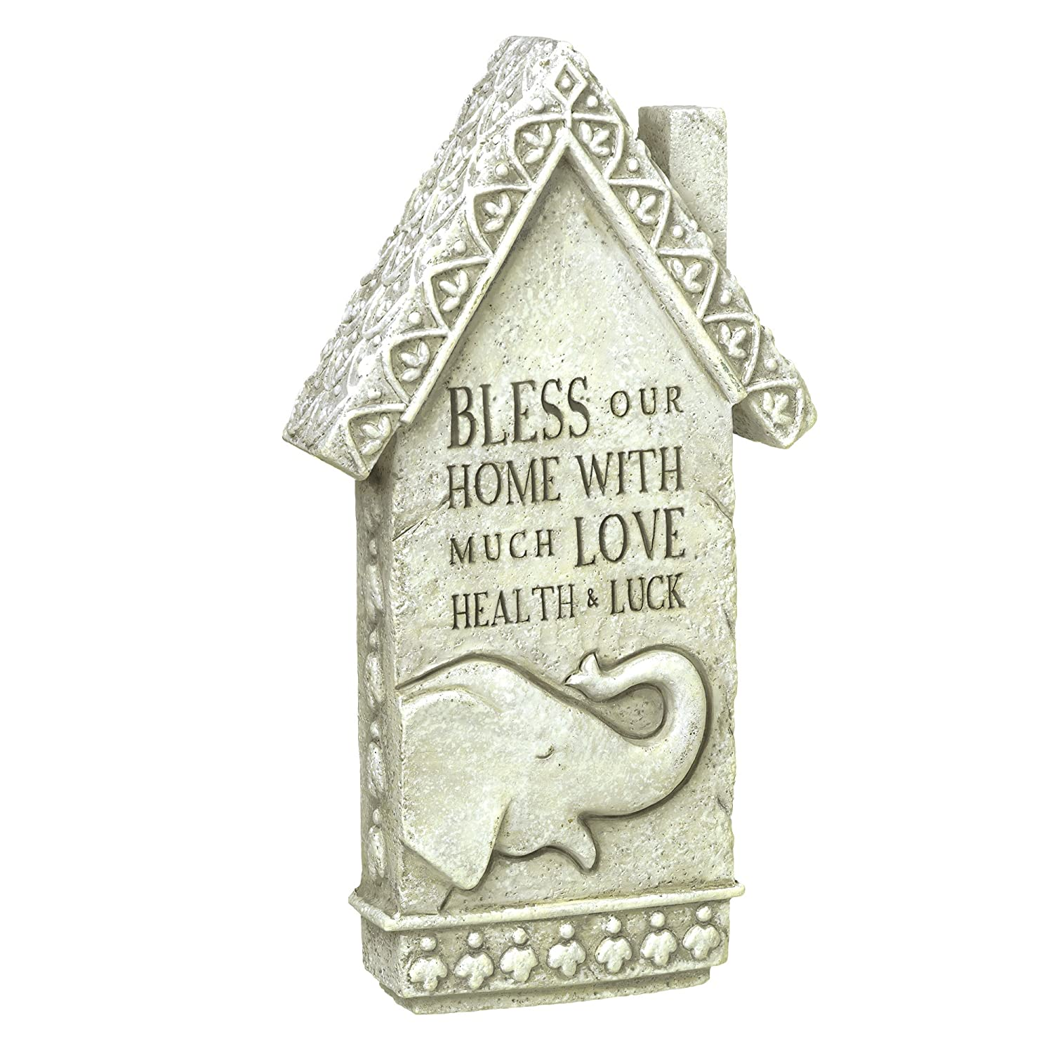Grasslands Road House Blessing Plaque, 8-Inch, Gray, 4-Pack