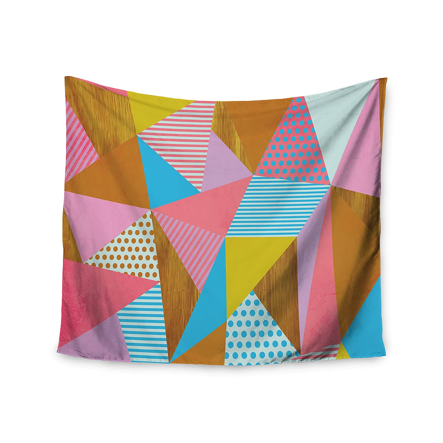 Kess InHouse Louise Machado Cycle Chic Blue Purple Vector Wall Tapestry