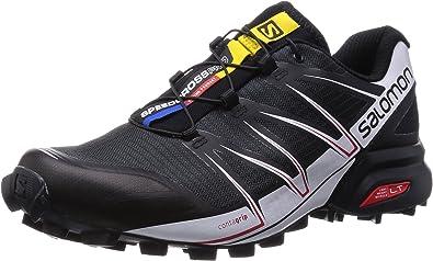Salomon Speedcross Pro - para hombre, Black/White/Bright Red, 46 2/3: Amazon.es: Zapatos y complementos
