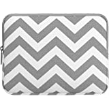 MOSISO iPad Sleeve, Canvas Fabric Case Bag Cover Protective Pouch for 10-Inch iPad Air / iPad 4 3 2 / Galaxy Tab 4, 3, Note Tablets, Chevron Gray