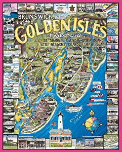 White Mountain Puzzles Golden Isles GA - 1000 Piece Jigsaw Puzzle