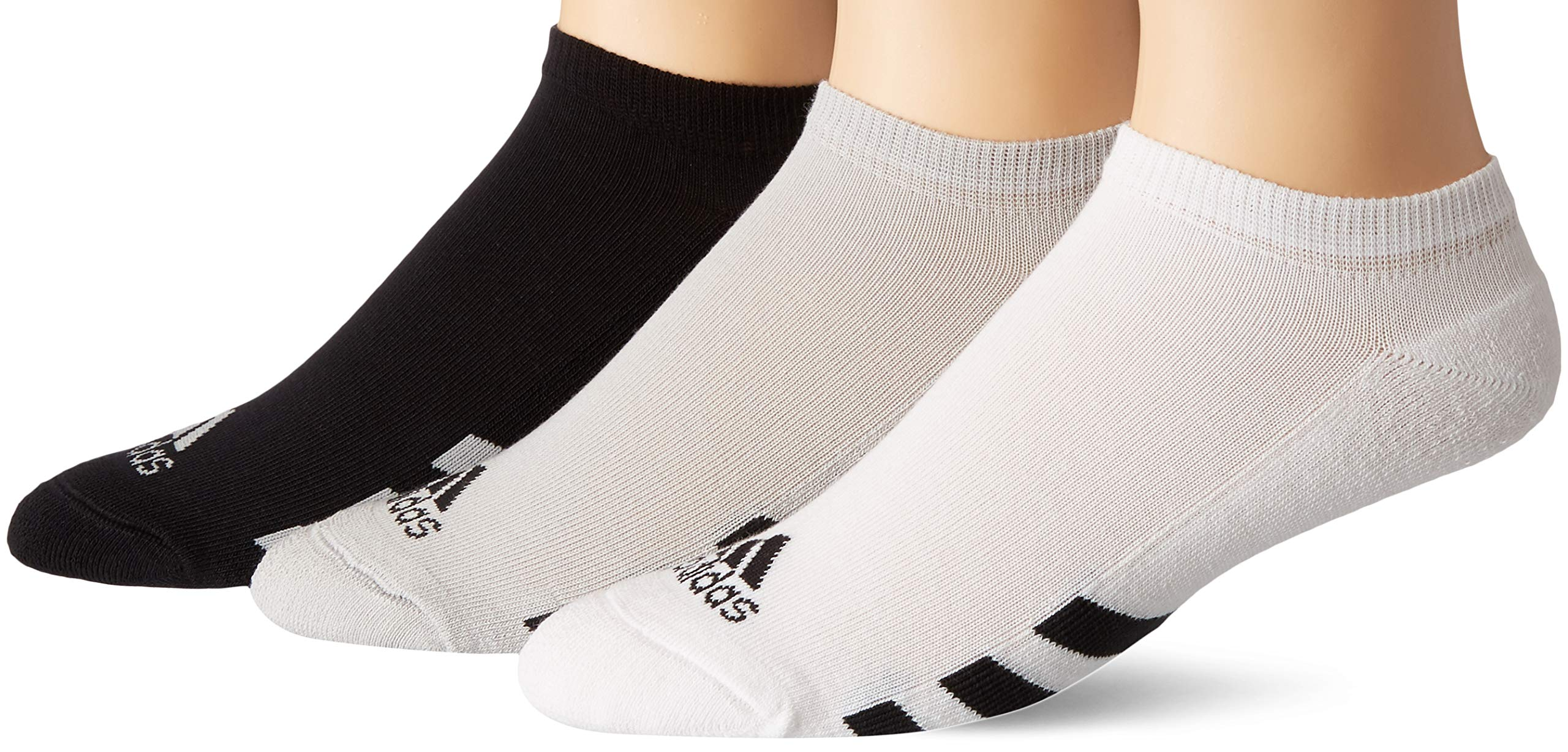 adidas Golf Men's 3-Pack No Show Sock, Black/Grey Two/White, 7-10 1/2 by adidas
