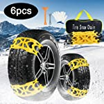 AgiiMan Snow Chains for Cars -Adjustable Emergency Anti-Skid 6Pcs Chains for