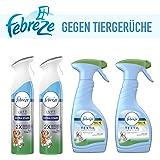 Febreze Set 2X Lufterfrischer Extra Stark+2X Textilerfrischer Gegen Tiergerüche
