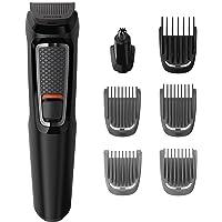 Philips Barbero MG3720/15 - Recortador de barba y precisión 7 en 1, cuchillas autoafilables, incluye Funda de viaje