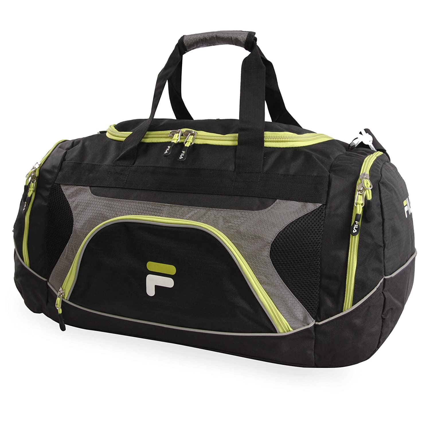 Fila Donlon Small Travel Gym Sport Duffel Bag, Neon Lime