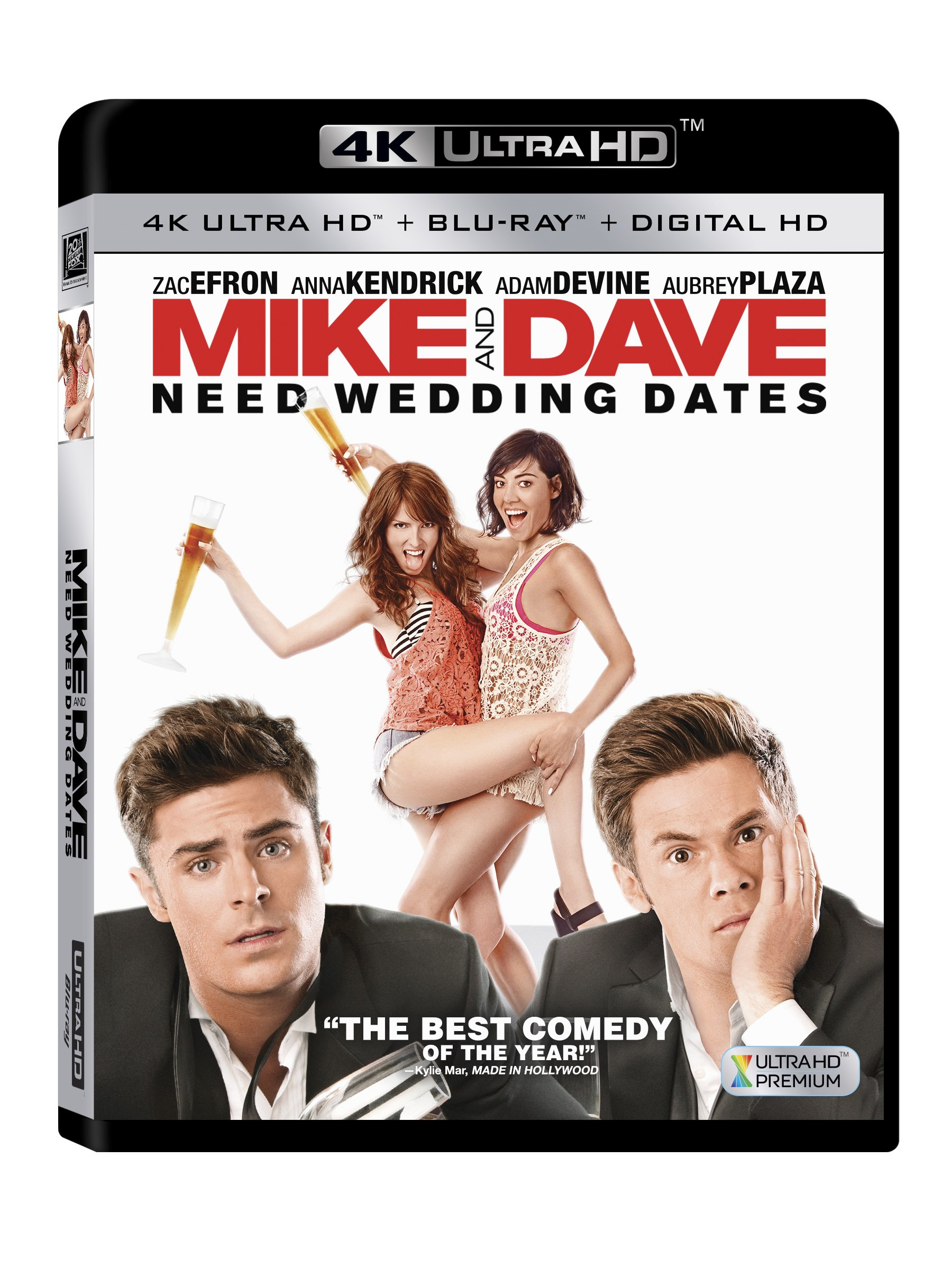 4K Blu-ray : Mike And Dave Need Wedding Dates (With Blu-Ray, 4K Mastering, 3 Pack, Digitally Mastered in HD, 3 Disc)