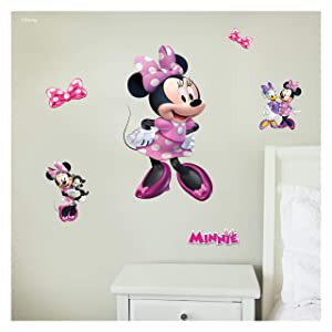 Disney Minnie Mouse Wall Decal - Disney Wall Decals with 3D Augmented Reality Interaction - Minnie Mouse Bedroom Decor - Minnie Mouse Stickers