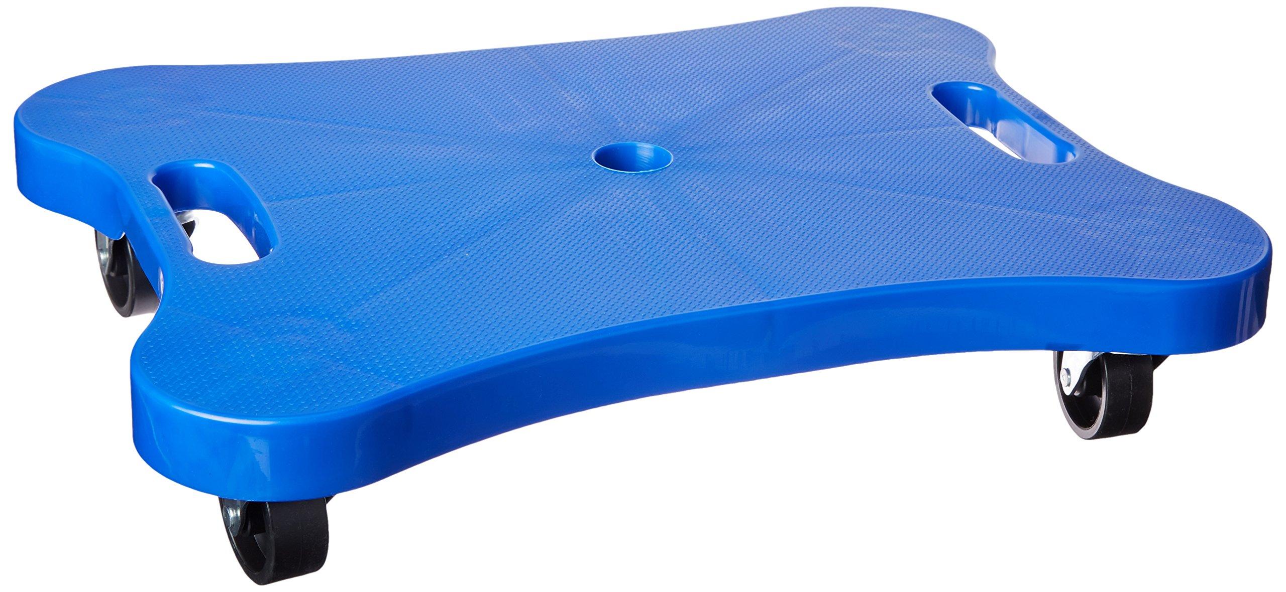 Champion Sports Contoured Plastic Scooter Board, Blue