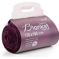 بطانية للمنزل من مينترا - فائقة النعومة، 100% بوليستر (ارجواني، مقاس 51 × 70 بوصة (صغير)، بطانية صوف دافئة خفيفة الوزن…