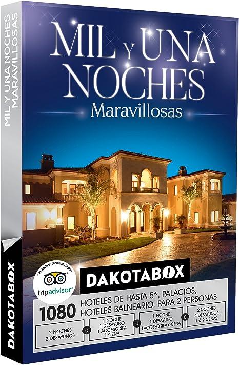 DAKOTABOX - Caja Regalo - MIL Y UNA NOCHES MARAVILLOSAS - 1080 hoteles, balnearios y palacios de hasta 5* en España, Bélgica, Andorra, Francia y Portugal: Amazon.es: Deportes y aire libre