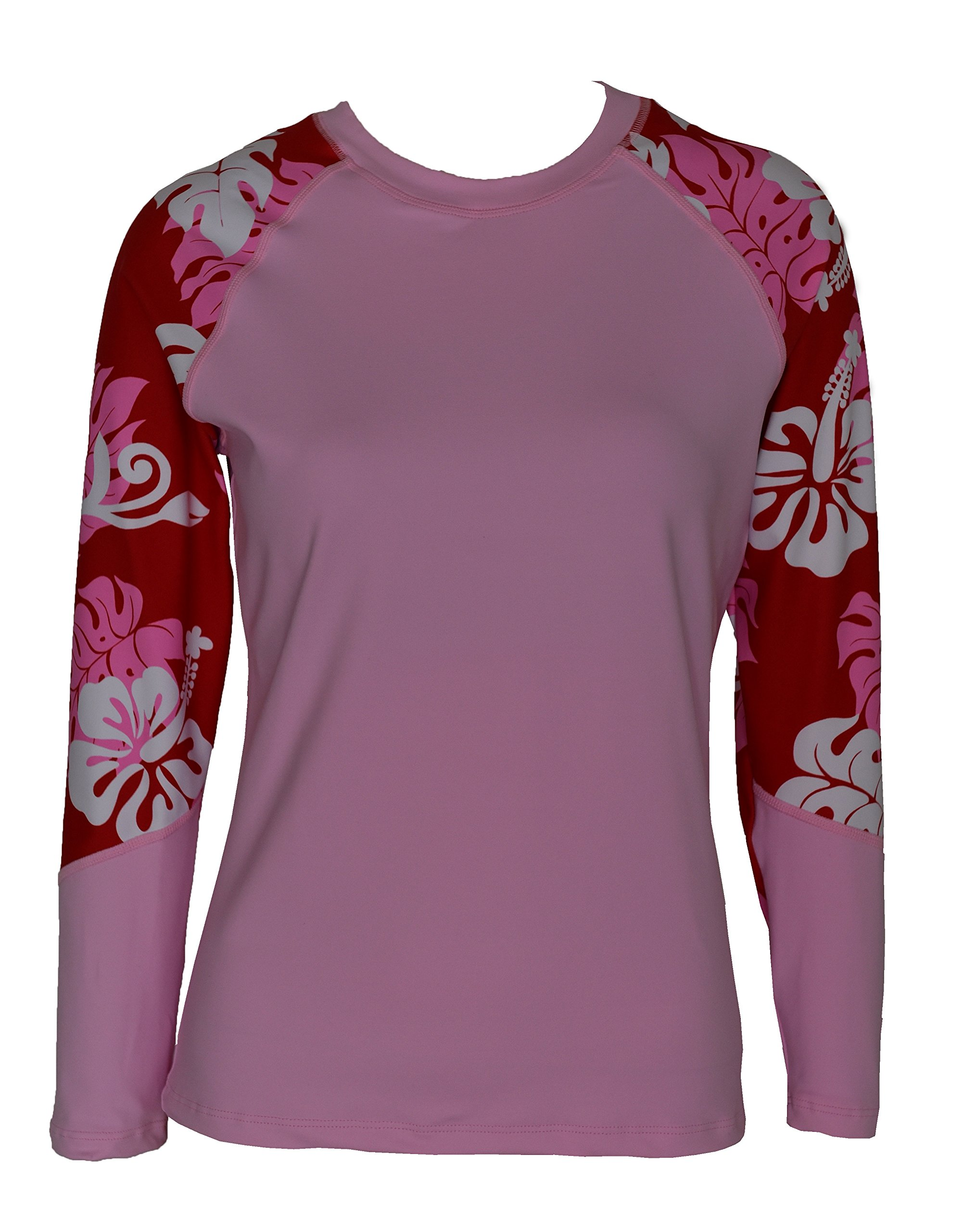 Private Island Hawaii UV Women Rash Guard Swim Yoga Active Workout Long Sleeve (XS, PwRW-RSRGT) by Private Island