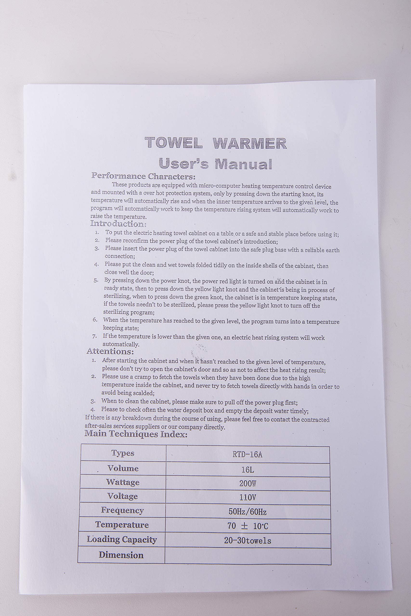 Barberpub 2in1 16L UV Sterilizer Hot Towel Warmer Cabinet Facial Skin Spa Massage Hair Beauty Salon Equipment TS05 (Black) by BarberPub (Image #7)