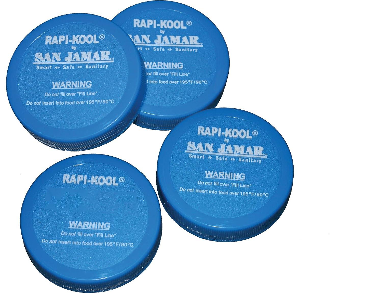 San Jamar RCUCAPPAK Rapi-Kool Replacement Cap(pack of 4)