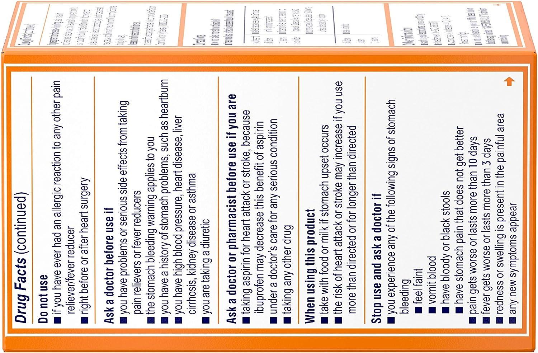 Motrin IB Liquid Gels, Ibuprofen 200mg, Fever, Muscle Aches, Headache & Back Pain Relief, 80 ct.: Health & Personal Care