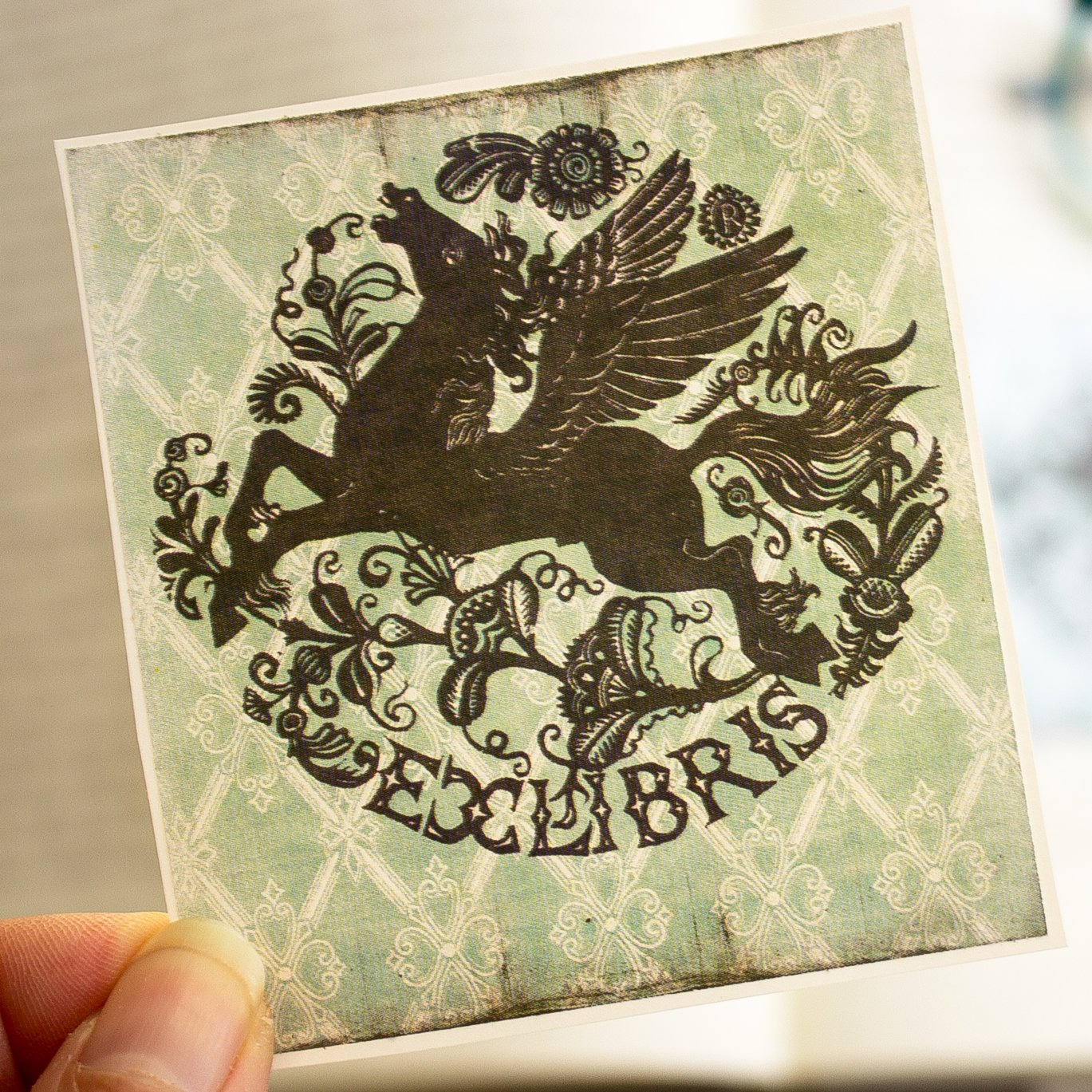 Pegasus Bookplate Stickers personalized gift book labels set of ten