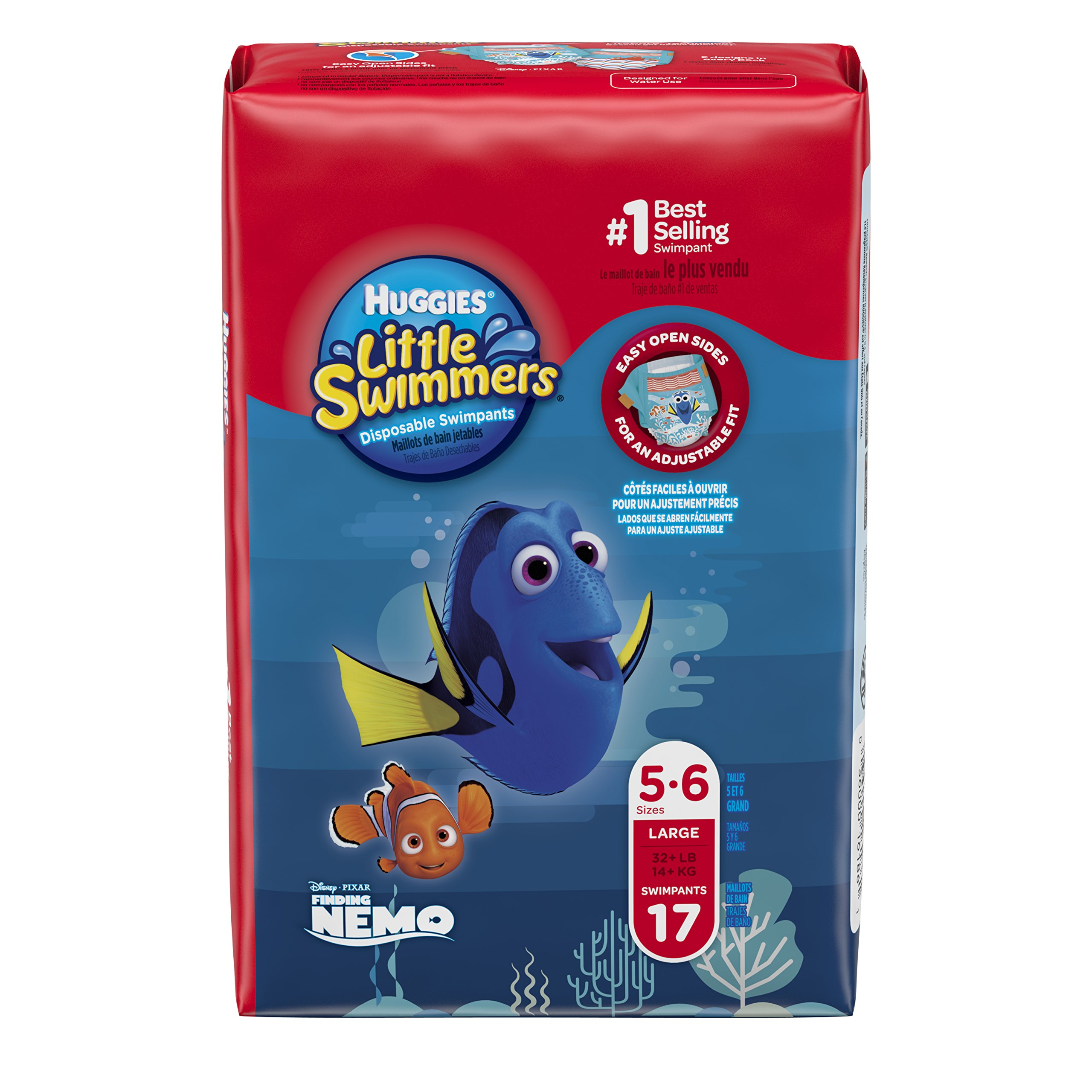 Huggies Little Swimmers Disposable Swim Diapers, Swimpants, Size 5-6 Large (over