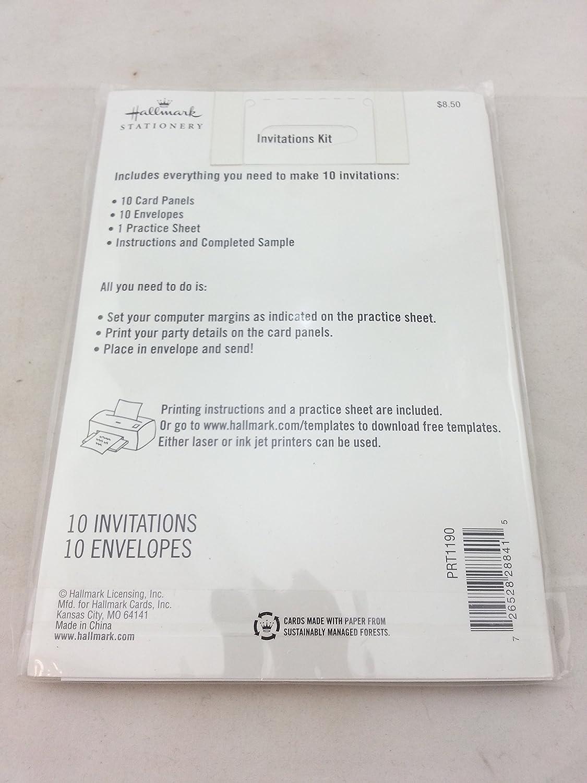 Amazon Com Hallmark Invitations Prt1190 Turquoise And Brown